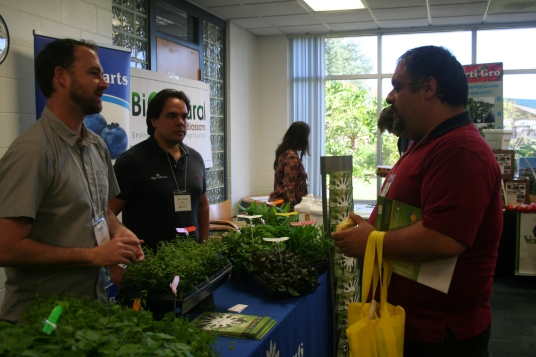 Farmers interacting with our exhibitors